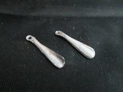 2 Dollhouse Miniature Unfinished Metal Shoe horn