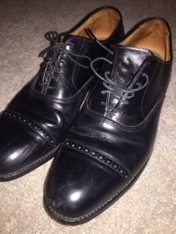 ALLEN EDMONDS~Cap Toe Oxford Shoe~BYRON~Black~Mens Shoes Siz