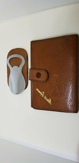 English Vintage Men's Wallet Gold Stamped with Shoe Horn/Bot