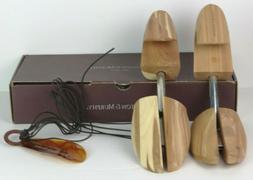 Johnston and Murphy Shoe Care Kit Cedar Wood Trees Horn Extr