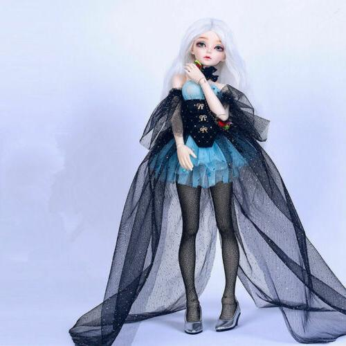 1/4 BJD Doll Ria With -Free Face Make UP+Eyes+Clothes+Hair+Shoes