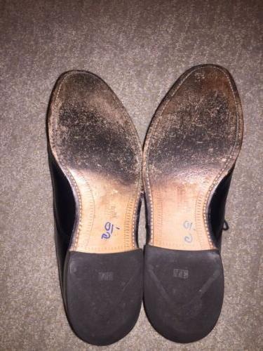 ALLEN EDMONDS~Cap Toe Oxford Shoe~BYRON~Black~Mens Shoes Size 1/2~Shoe