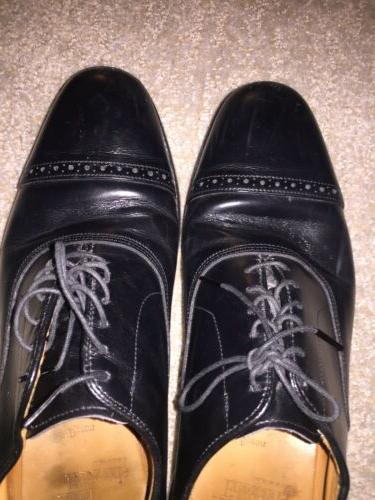 ALLEN EDMONDS~Cap Shoe~BYRON~Black~Mens 1/2~Shoe