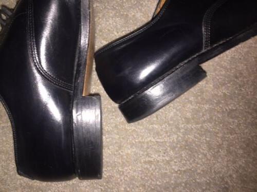 ALLEN EDMONDS~Cap Oxford Shoe~BYRON~Black~Mens 9 1/2~Shoe Horn