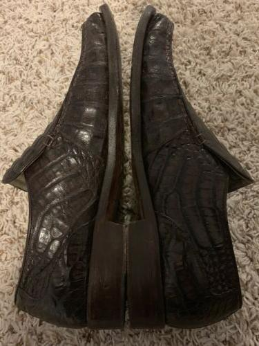Mauri Back Crocodile Loafers