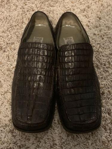 men genuine horn back crocodile shoes classic
