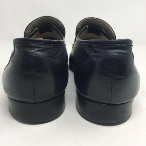 Vtg Florsheim Imperial Black Slip Shoes 10.5