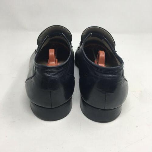 Vtg Black Leather Slip On Shoes