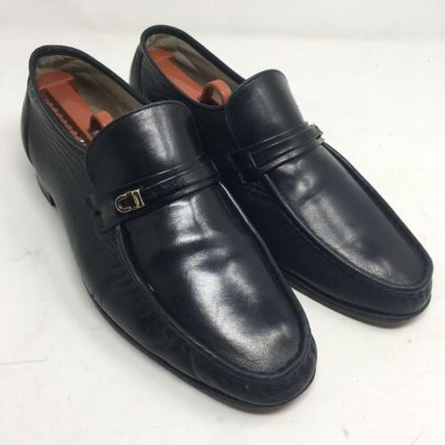 vtg imperial lightweights black leather slip on