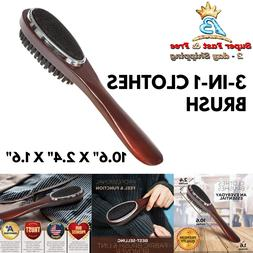 Lint Brush Clothes Suit Shoe Horn Brush Real Wood Fuzz Fabri