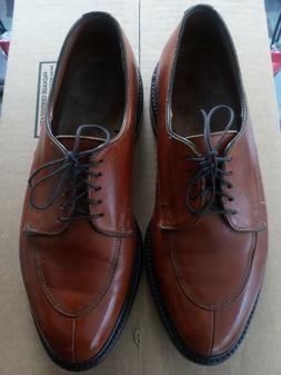 Allen Edmonds Mens Size 9 WALTON COFFEE Lace Ups w.flannel s