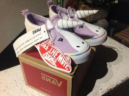 NEW Vans Asher V Unicorn with horn & glitter Slip on Shoes G