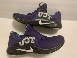 NEW Nike Mens Free TR 8 TCU Horned Frogs Running Shoes Purpl