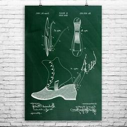 Shoe Horn Poster Print Cobbler Gift Footwear Wall Art Design